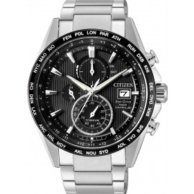 Citizen Uhren AT8154-82E Eco Drive Funkuhr Chronograph Super Titanium Herrenuhr