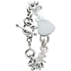 Herzkette Gravur Tiffany Christine Look!!!  Silberkette Herzanhänger Knebelverschluss zum Gravieren