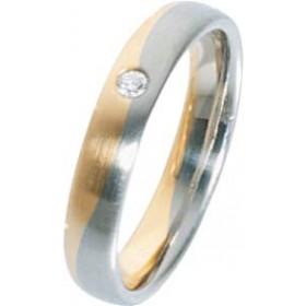 Trauring Gold 585 und Weißgold 585 hochwertig
