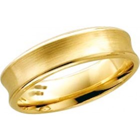 Trauring Ehering in Gelbgold 14k 585/- konkave Form