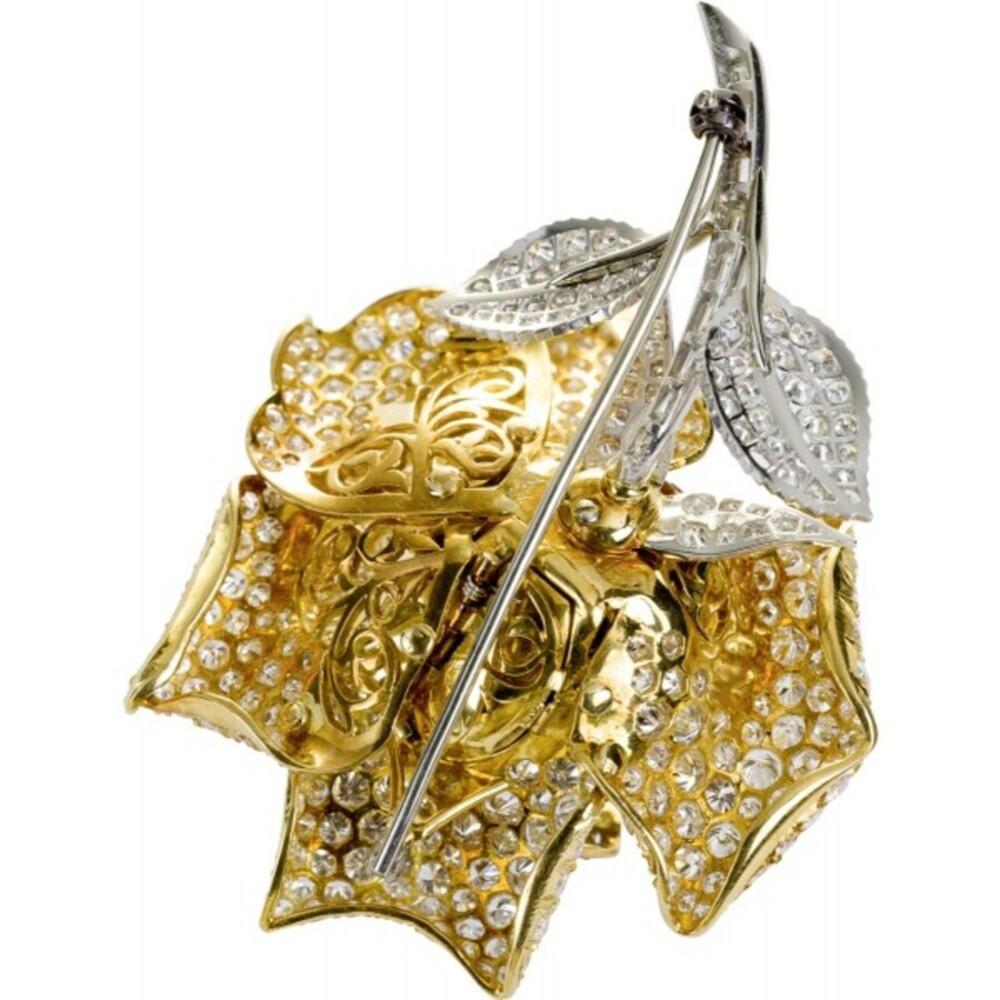 Echtschmuck Preiswert Kaufen Brillantbrosche Diamantbrosche 18kt 750 Gold Mit Brillanten Diamanten . Uhren & Schmuck
