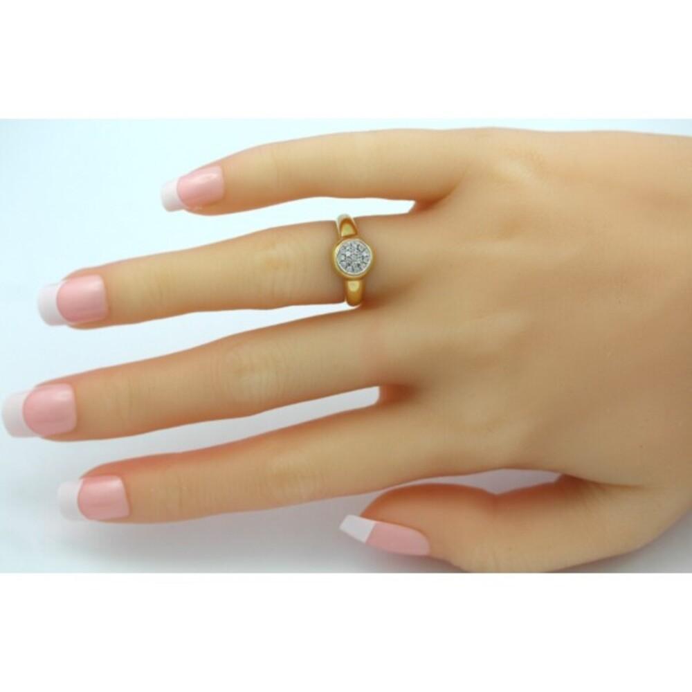 Exclusiver Diamant Ring weißen Diamanten 0,24 Carat TWVSI 88 Gelbgold 750 Fassung Weißgold 750